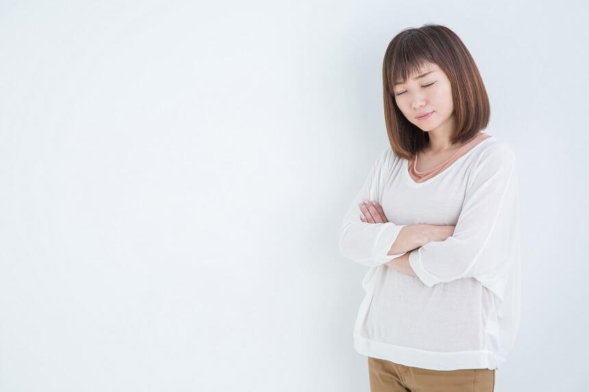 不満の女性