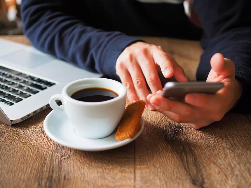 携帯 カフェ